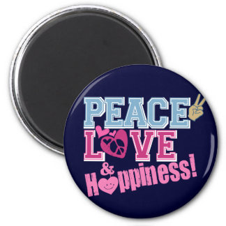 平和愛および幸福 マグネット
