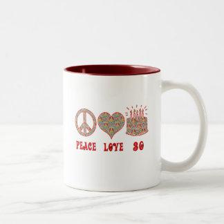 平和愛および30 ツートーンマグカップ