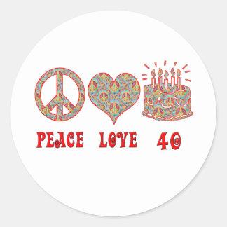 平和愛および40 ラウンドシール
