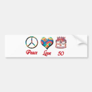 平和愛および50 バンパーステッカー