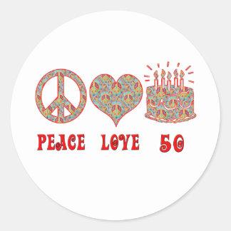 平和愛および50 ラウンドシール