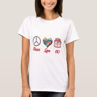 平和愛および60 Tシャツ