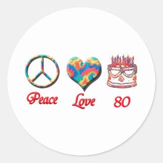平和愛および80 ラウンドシール