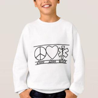 平和愛およびEMTs スウェットシャツ