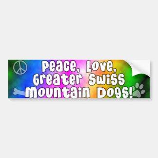 平和愛すばらしいスイス人Mtnはバンパーステッカーの後をつけます バンパーステッカー