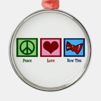 平和愛ちょうネクタイ メタルオーナメント