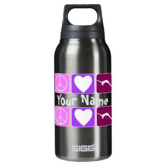 平和愛は名前入りなボトル16のozの転落し、 断熱ウォーターボトル
