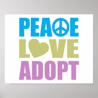 平和愛は採用します ポスター