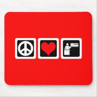平和愛は教えます マウスパッド