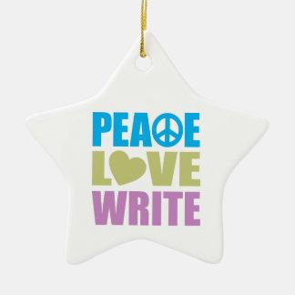 平和愛は書きます セラミックオーナメント