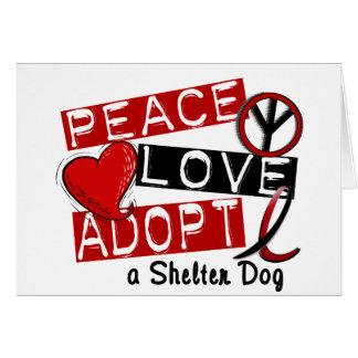 平和愛は避難所犬を採用します カード