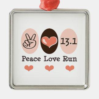 平和愛は13.1銀製のオーナメントを走ります メタルオーナメント