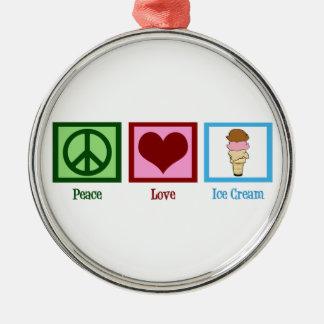 平和愛アイスクリーム メタルオーナメント