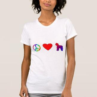 平和愛アイリッシュ・ウォーター・スパニエル Tシャツ