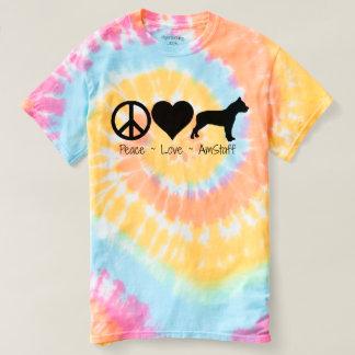 平和愛アメリカ(犬)スタッフォードテリア Tシャツ
