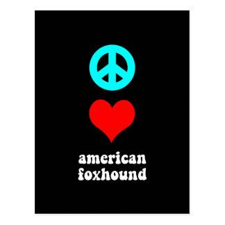 平和愛アメリカfoxhound ポストカード