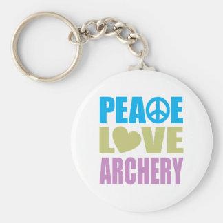 平和愛アーチェリー キーホルダー