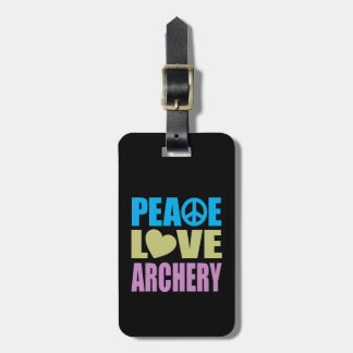 平和愛アーチェリー ラゲッジタグ