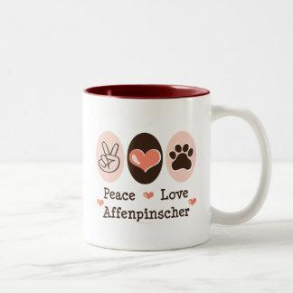 平和愛アーフェンピンシャーのマグ ツートーンマグカップ
