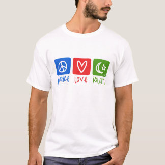 平和愛イスラム教(hor) tシャツ