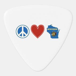 平和愛ウィスコンシン ギターピック