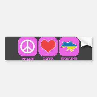 平和愛ウクライナ バンパーステッカー