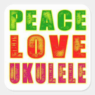 平和愛ウクレレ スクエアシール