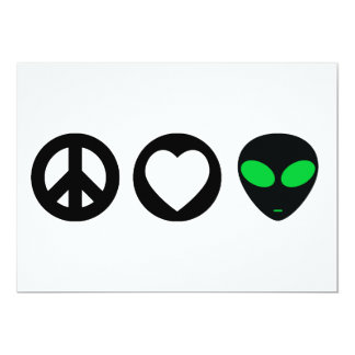 平和愛エイリアン カード
