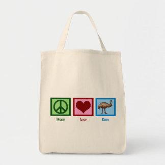 平和愛エミュー トートバッグ