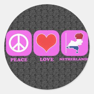 平和愛オランダ ラウンドシール