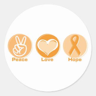 平和愛オレンジの希望 ラウンドシール