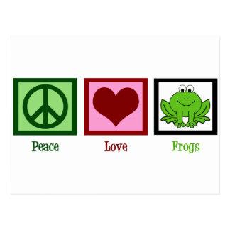 平和愛カエル ポストカード