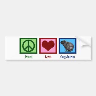 平和愛カピバラ バンパーステッカー