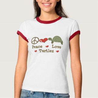 平和愛カメの信号器のTシャツ Tシャツ