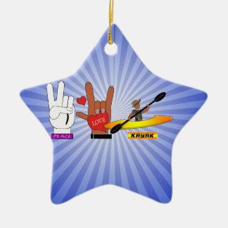 平和愛カヤック セラミックオーナメント