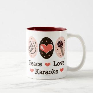平和愛カラオケのマグ ツートーンマグカップ