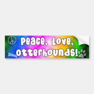 平和愛カワウソ猟犬のバンパーステッカー バンパーステッカー