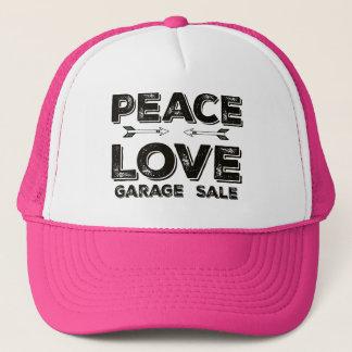 平和愛ガレージセールのトラック運転手の帽子 キャップ