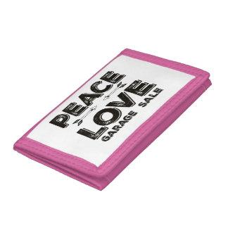 平和愛ガレージセールの財布 ナイロン三つ折りウォレット