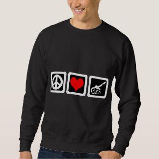 平和愛ギター スウェットシャツ