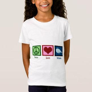 平和愛クジラ Tシャツ