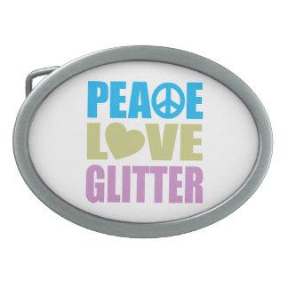 平和愛グリッター 卵形バックル