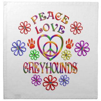平和愛グレイハウンド ナプキンクロス