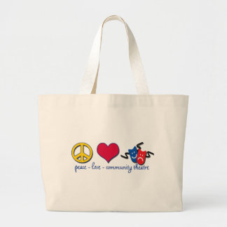 平和愛コミュニティ劇場 ラージトートバッグ