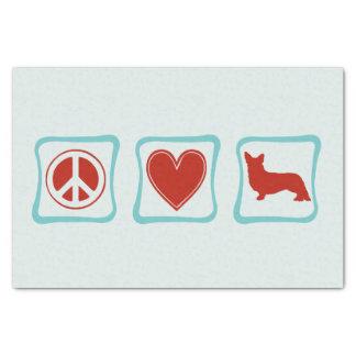 平和愛コーギーの正方形 薄葉紙