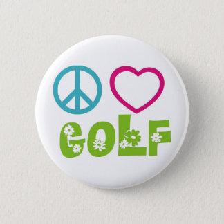 平和愛ゴルフ 5.7CM 丸型バッジ