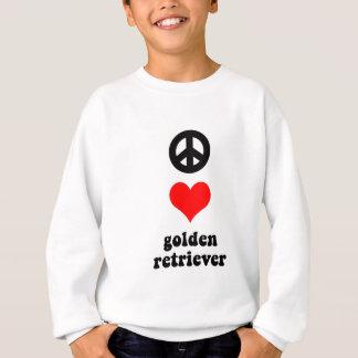 平和愛ゴールデン・リトリーバー スウェットシャツ