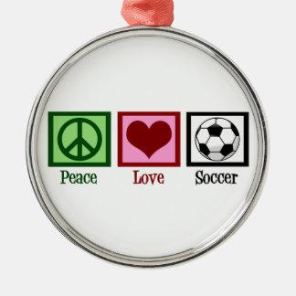 平和愛サッカー メタルオーナメント