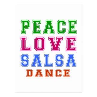 平和愛サルサのダンス ポストカード