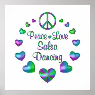 平和愛サルサの踊り プリント